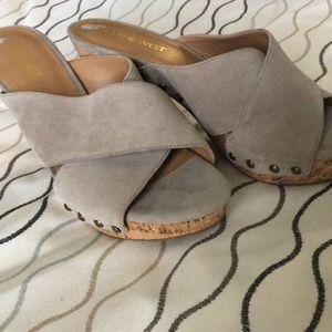 Nine West cork heel shoe
